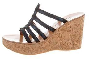 K Jacques St Tropez Metallic Platform Wedges