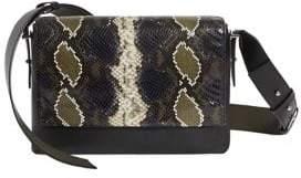 AllSaints Large Versailles Embossed Leather Shoulder Bag