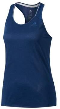 adidas Women's Running Supernova Tank Top (Large) (Mystery Blue/Utility Black, X-Large)