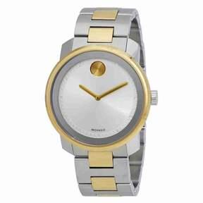 Movado Bold Silver Dial Two-tone Men's Watch 3600431