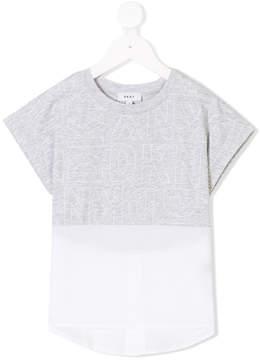 DKNY sheer hem branded T-shirt