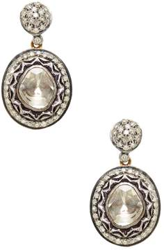 Amrapali Women's 14K Yellow Gold & 1.49 Total Ct. Champagne Diamond Drop Earrings