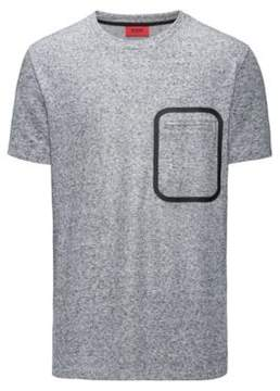 HUGO Boss Mouline French Terry T-Shirt Delushi XS Grey