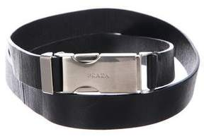 Prada Leather Push-Lock Belt
