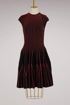 Alexander McQueen Silk and wool mini dress