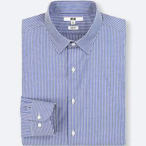 Uniqlo Men's Easy Care Striped Slim-fit Long-sleeve Shirt