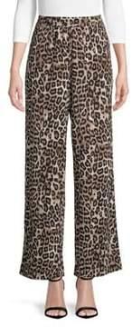 Context Leopard Wide-Leg Pants