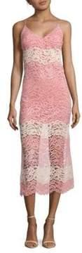 ABS by Allen Schwartz Lace Midi Slip Dress