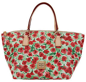 Dooney & Bourke Floral Print Coated Canvas Tulip Tote - ONE COLOR - STYLE