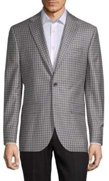 Jack Victor Conway Checkered Wool Jacket