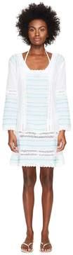 Letarte Embroidered Long Sleeve Tunic Dress Women's Swimwear