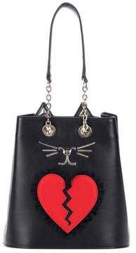 Charlotte Olympia Broken Heart Feline bucket bag