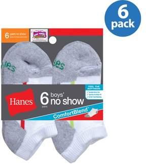 Hanes No Show Socks, 6 Pairs (Little Boys & Big Boys)