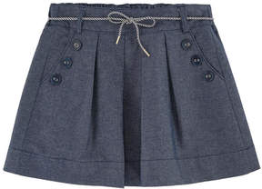 Jean Bourget Jean skirt with pearls
