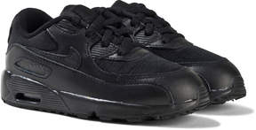 Nike All Black Air Max 90 Mesh Trainers