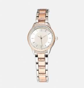 Avenue Two Tone Link Watch