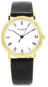 Patek Philippe Calatrava 18K Yellow Gold / Leather 33mm Mens Watch
