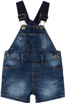Mayoral Blue Dark Wash Denim Dungarees