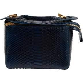Sophie Hulme Blue Python Handbag