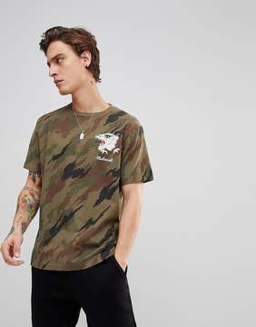 MHI T-Shirt In Camo With Tiger