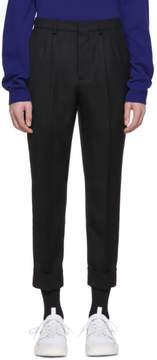 Ami Alexandre Mattiussi Black Wool Carrot Fit Trousers