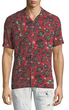 Just Cavalli Bandana-Print Short-Sleeve Shirt