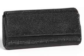 Whiting & Davis 'Pyramid' Mesh Clutch - Black