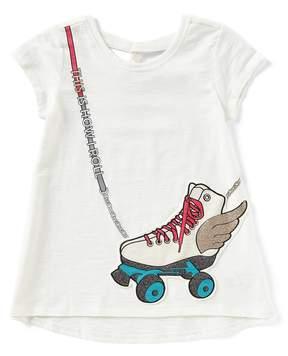 Jessica Simpson Big Girls 7-16 Roller Skate Purse Tee