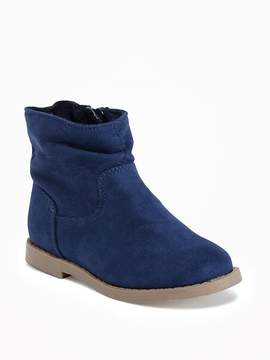 Old Navy Sueded Booties for Toddler Girls