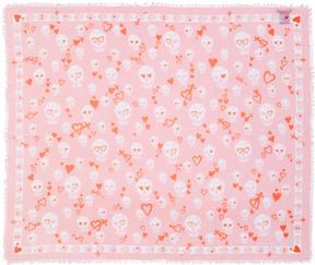 Alexander McQueen Pink Sweethearts Skull Scarf