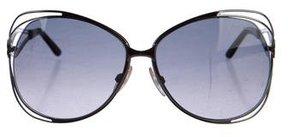 Roberto Cavalli Oversize Gradient Lens Sunglasses