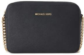 Michael Kors Jet Set Shoulder Bag In Black Saffiano Leather - NERO - STYLE