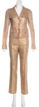 Chanel Linen Metallic Pantsuit