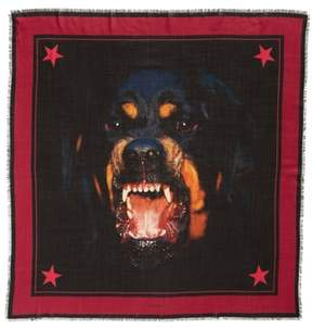 Givenchy Rottweiler Wool & Silk Square Scarf