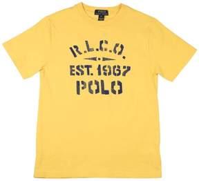 Polo Ralph Lauren Infant Boys' (3M-24M) R.L.C.O. Graphic T-Shirt-Aspen Gold-3M