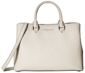 MICHAEL Michael Kors Savannah Large Satchel Satchel Handbags - CEMENT - STYLE