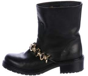 DSQUARED2 Leather Embellished Boots