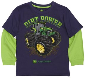 John Deere Boys 4-7x Dirt Power Tractor Mock-Layer Tee