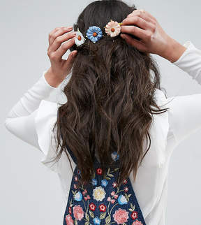 Asos Pack of 3 Paper Daisy Hair Clips