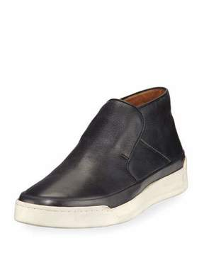 John Varvatos Remy Leather Mid-Top Slip-On Sneaker