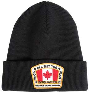 DSQUARED2 Wool Beanie Hat W/ Logo Patch