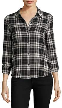 Generation Love Women's Roberta Lace-Up Plaid Shirt