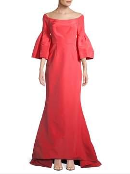 Carolina Herrera Women's Off-the-Shoulder Silk Gown