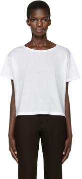 Anthony Vaccarello White Boatneck T-Shirt