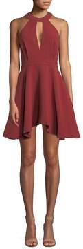 C/Meo COLLECTIVE Women's Keyhole Halter Mini Dress