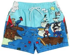 Dolce & Gabbana Pirates Print Nylon Swim Shorts