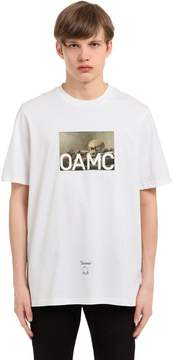Oamc Still Life Printed Cotton Jersey T-Shirt