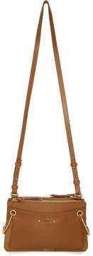 Chloé Tan Mini Roy Double Zip Bag
