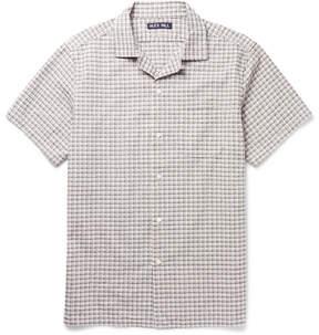 Alex Mill Camp-Collar Checked Cotton-Seersucker Shirt