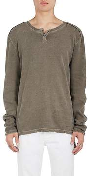 Ksubi Men's Starcrawl Distressed Cotton Henley